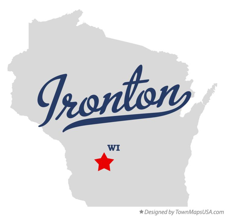 Map of Ironton Wisconsin WI