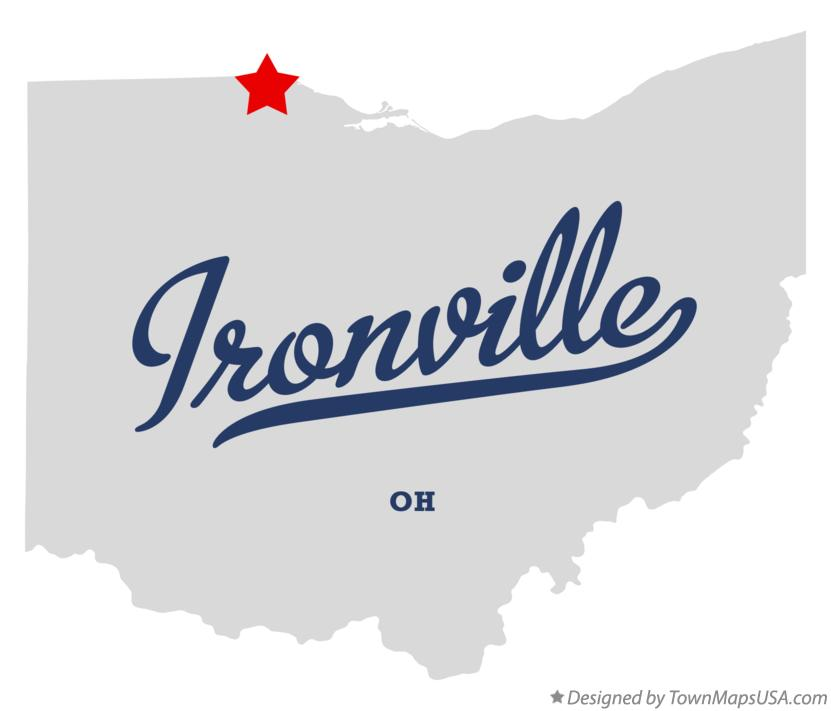 Map of Ironville Ohio OH