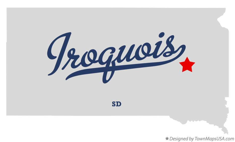 Map of Iroquois South Dakota SD