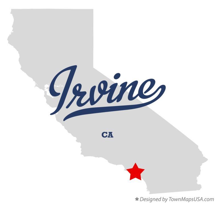 Map of Irvine, CA, California