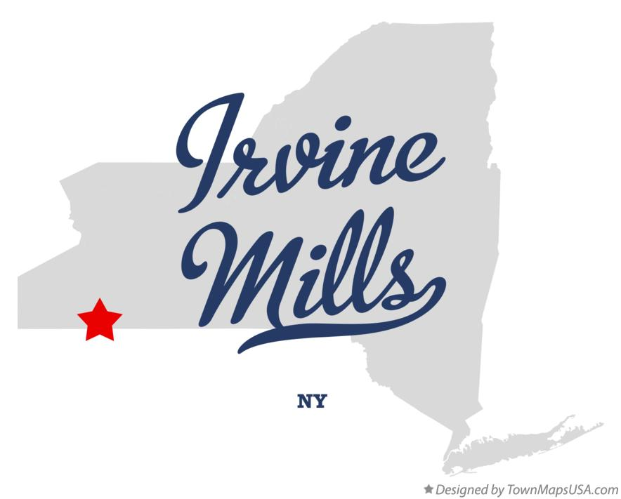 Map of Irvine Mills New York NY