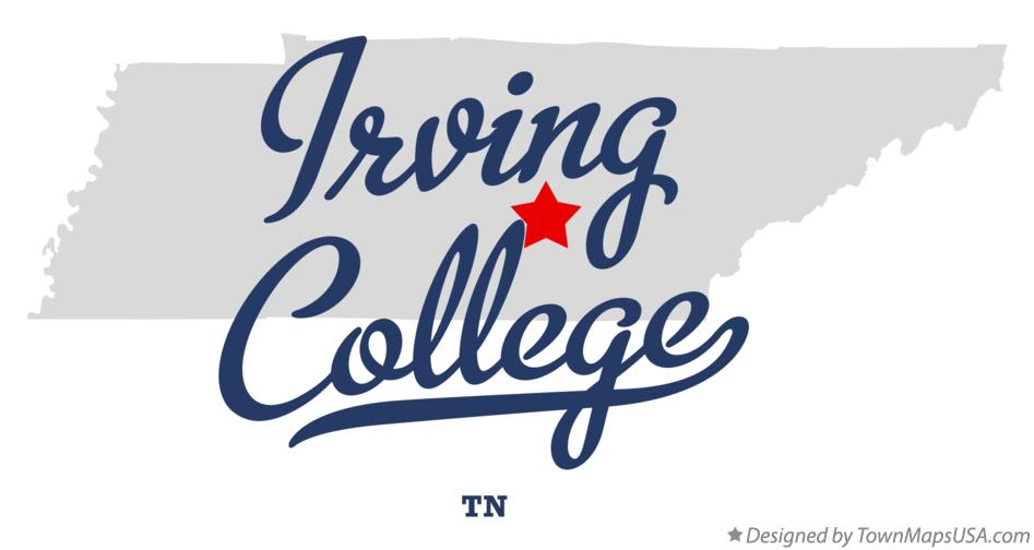 Map of Irving College Tennessee TN