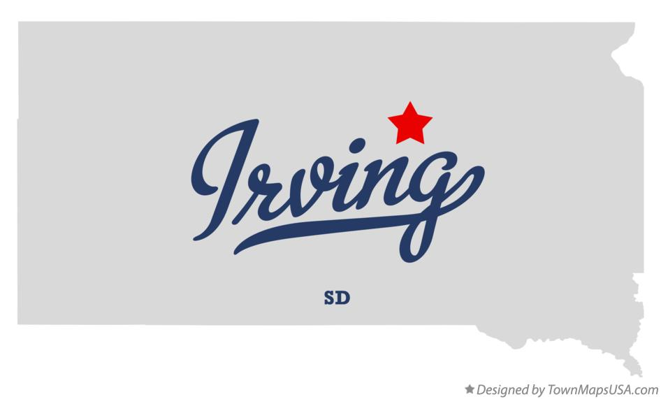 Map of Irving South Dakota SD