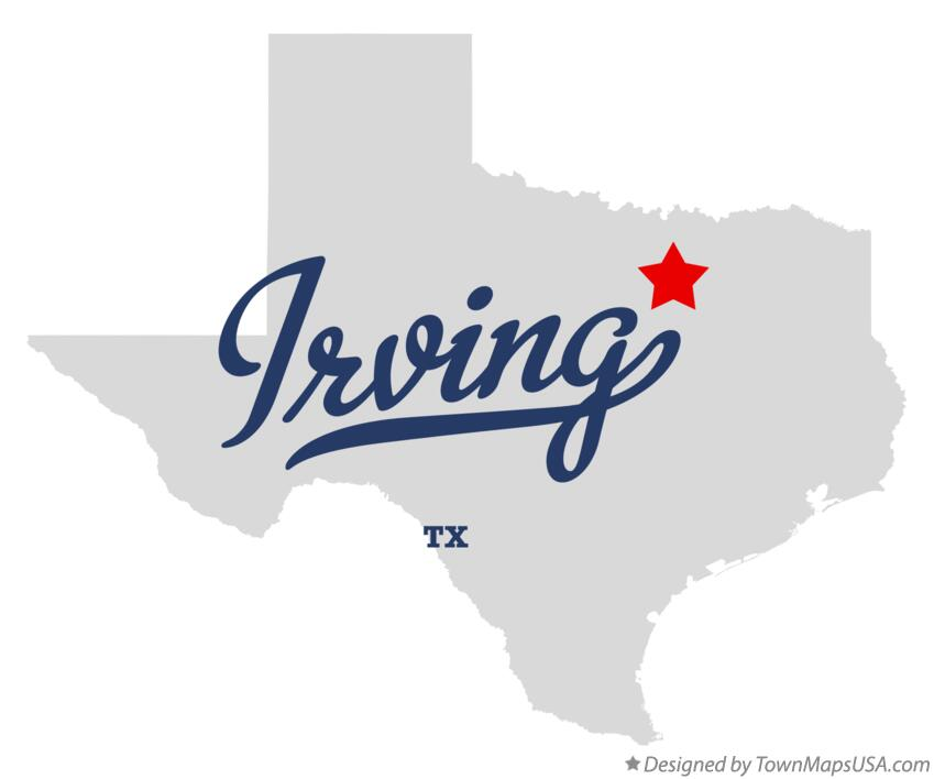 Map of Irving Texas TX