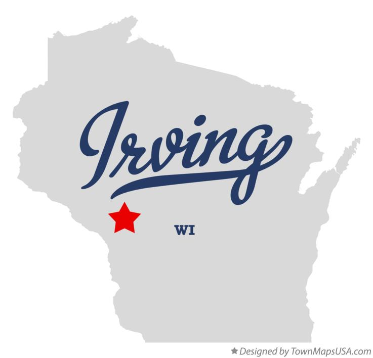 Map of Irving Wisconsin WI