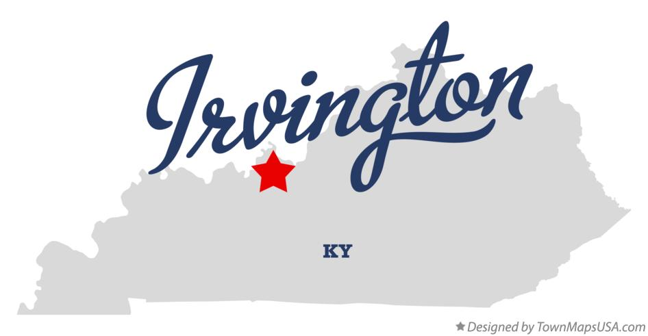 Map of Irvington Kentucky KY