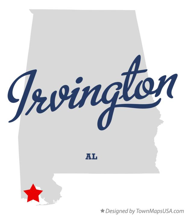 Map of Irvington Alabama AL