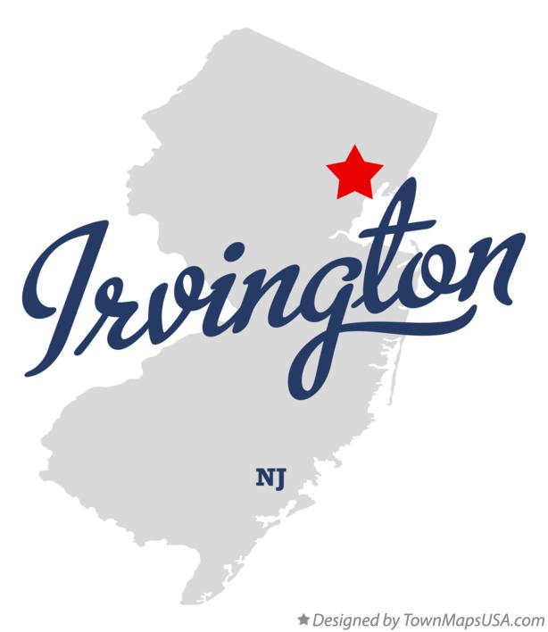 Map of Irvington New Jersey NJ
