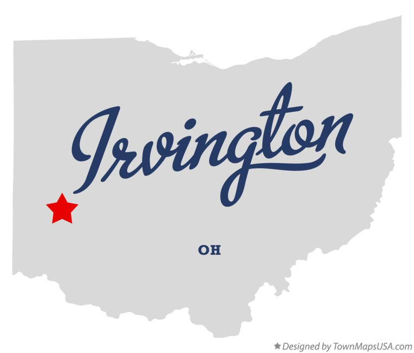 Map of Irvington Ohio OH
