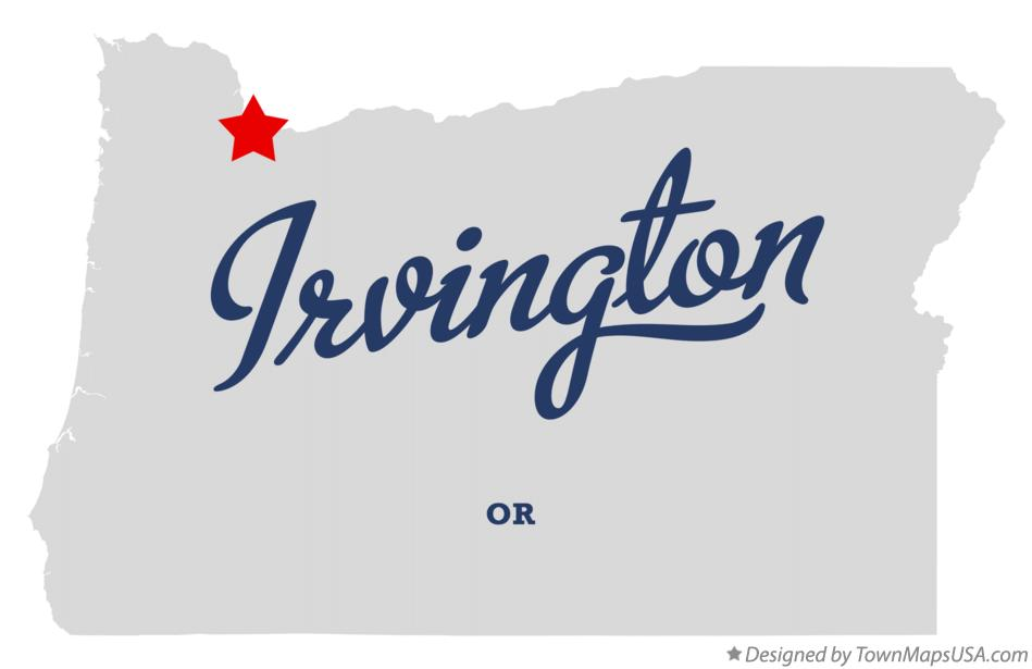 Map of Irvington Oregon OR