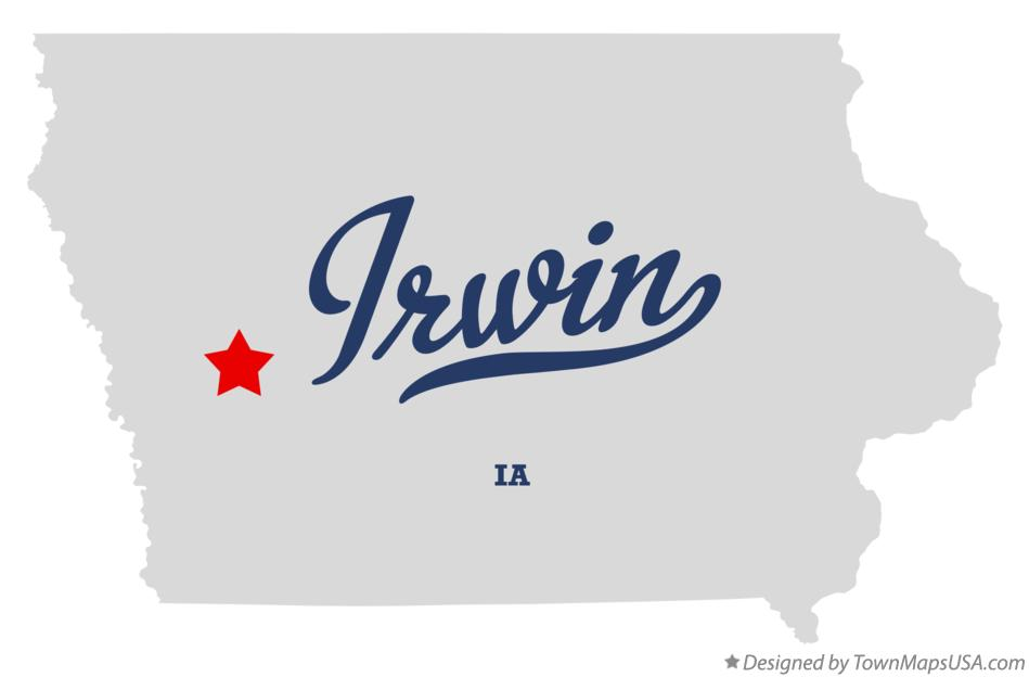 Map of Irwin Iowa IA