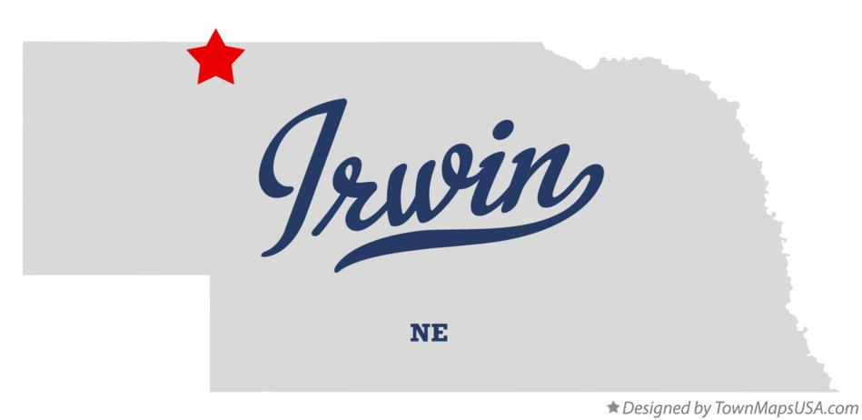 Map of Irwin Nebraska NE