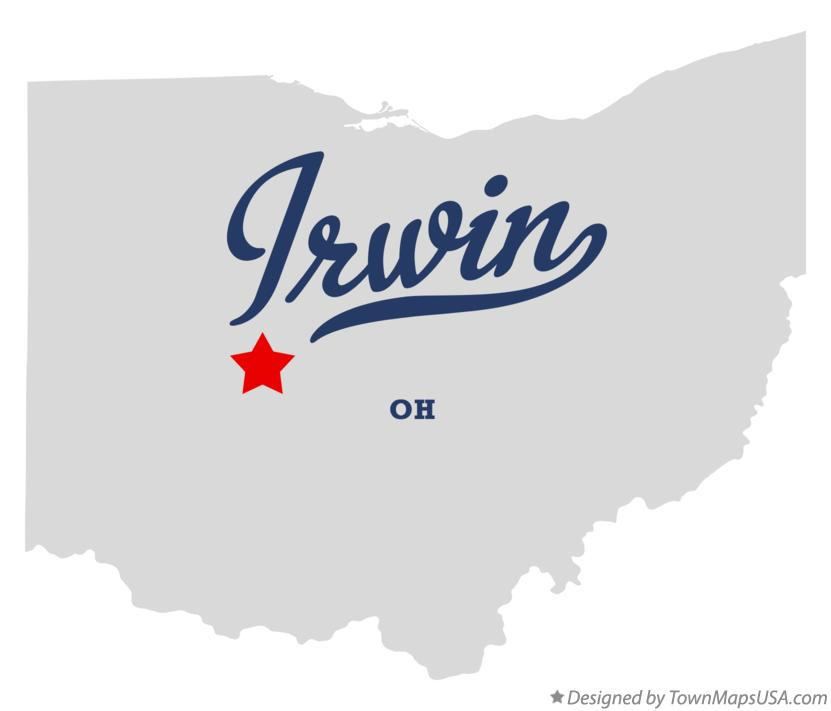 Map of Irwin Ohio OH