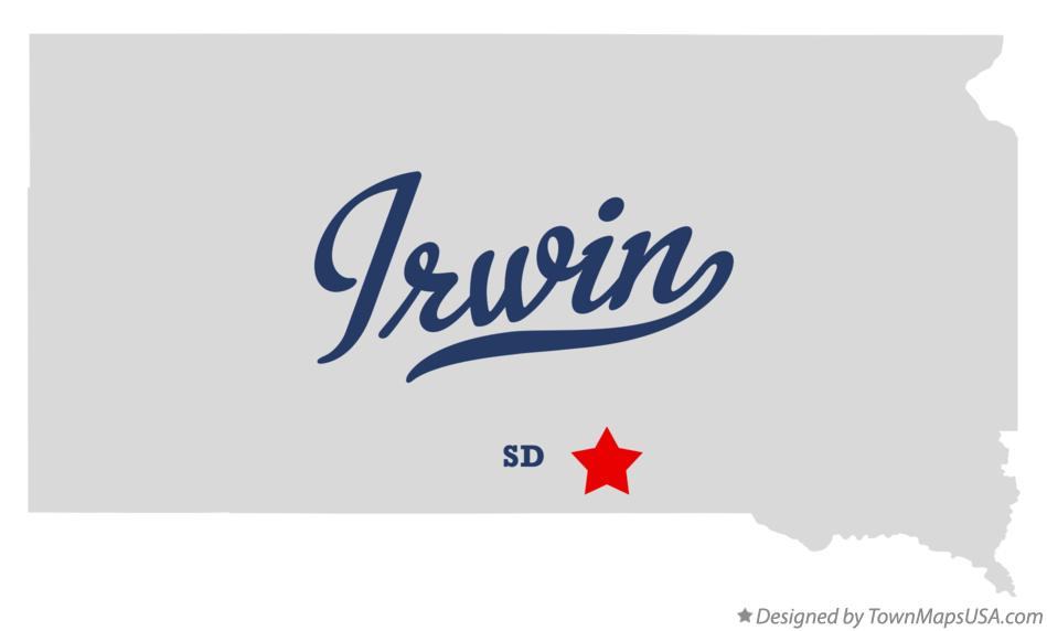 Map of Irwin South Dakota SD