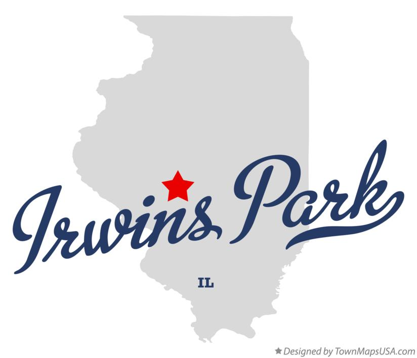 Map of Irwins Park Illinois IL