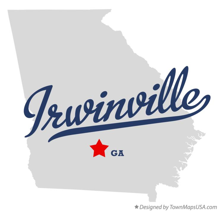 Map of Irwinville Georgia GA