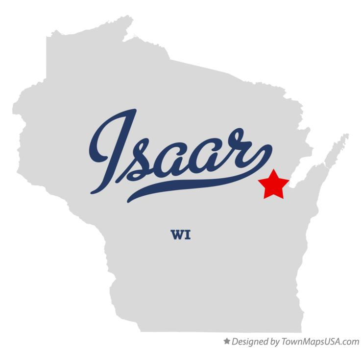 Map of Isaar Wisconsin WI