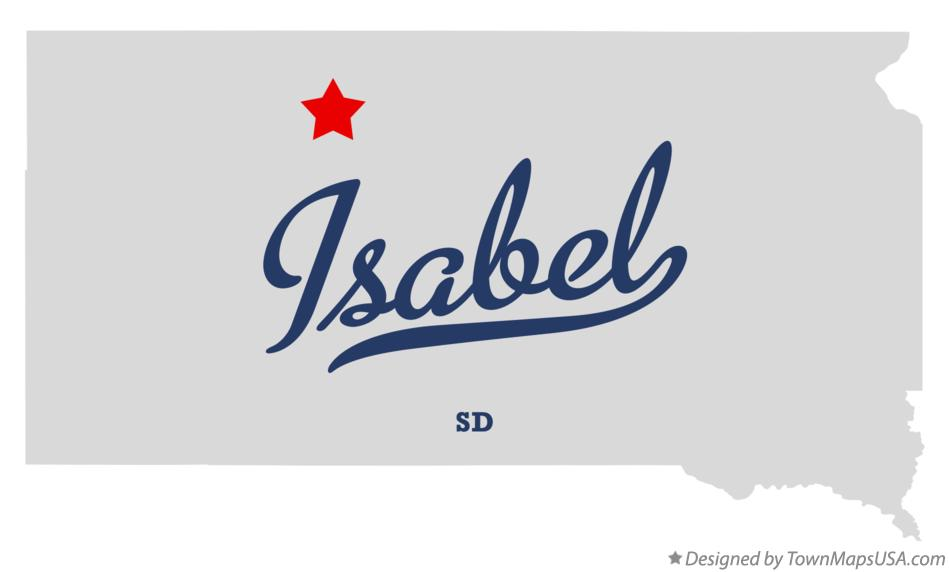 Map of Isabel South Dakota SD