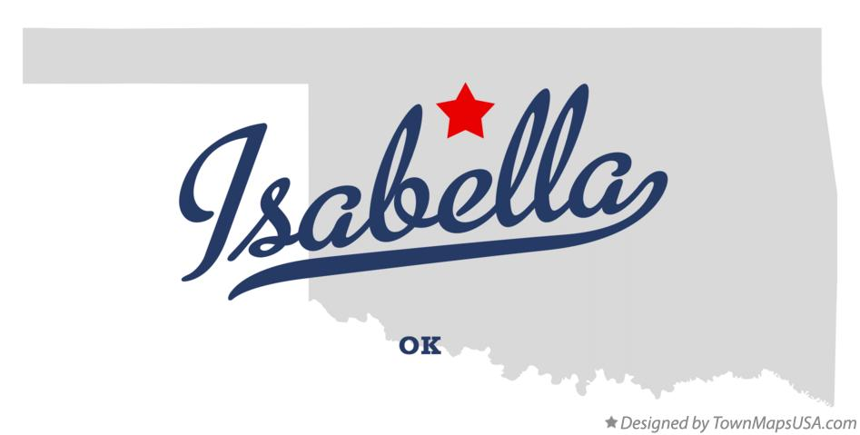 Map of Isabella Oklahoma OK