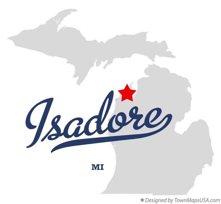 Map of Isadore Michigan MI