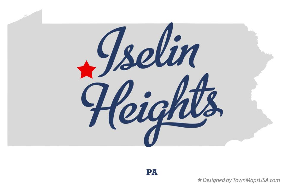 Map of Iselin Heights Pennsylvania PA