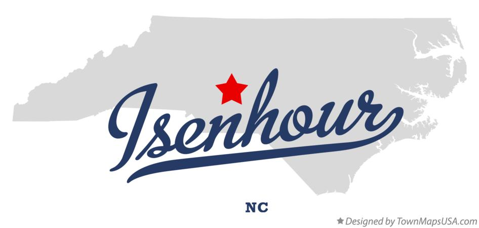 Map of Isenhour North Carolina NC