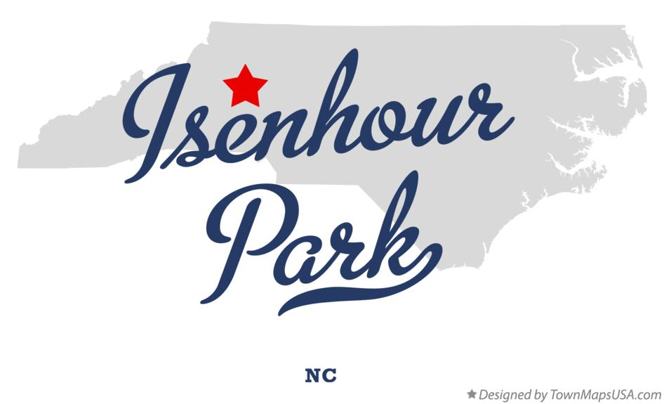 Map of Isenhour Park North Carolina NC