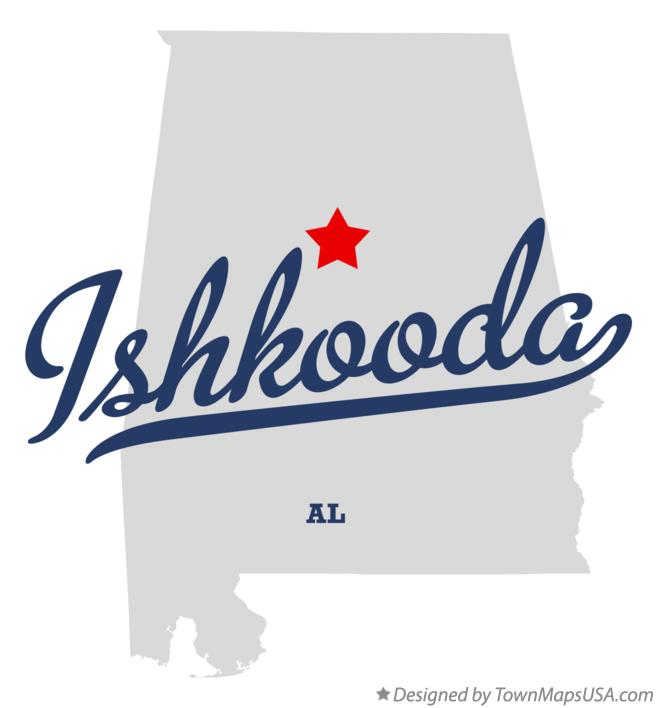 Map of Ishkooda Alabama AL