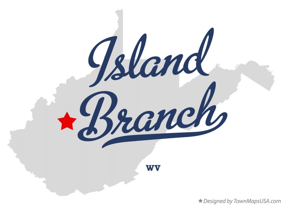 Map of Island Branch West Virginia WV
