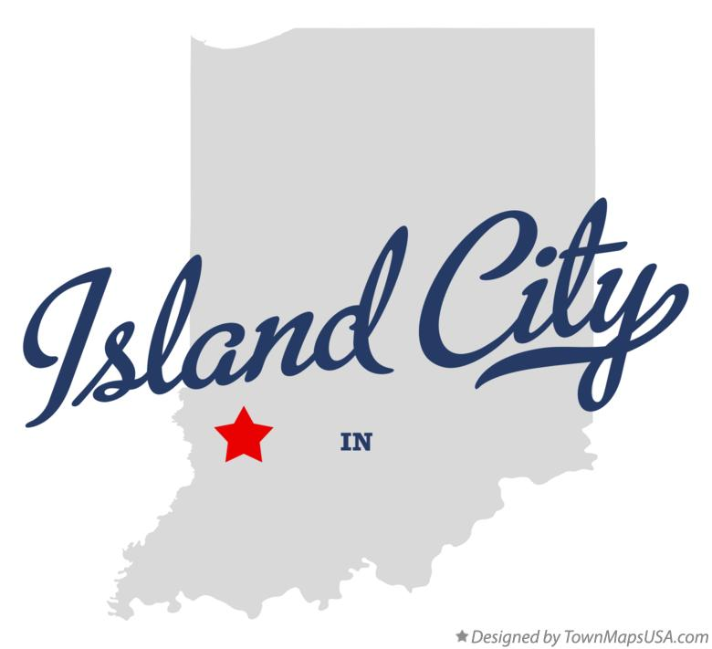 Map of Island City Indiana IN