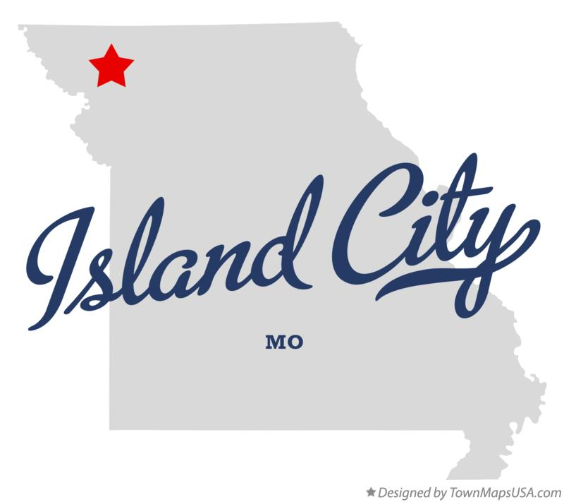 Map of Island City Missouri MO
