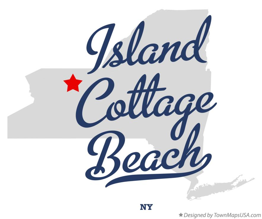 Map of Island Cottage Beach New York NY