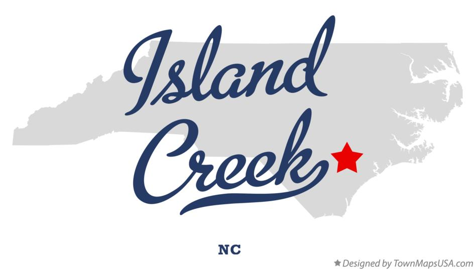 Map of Island Creek North Carolina NC
