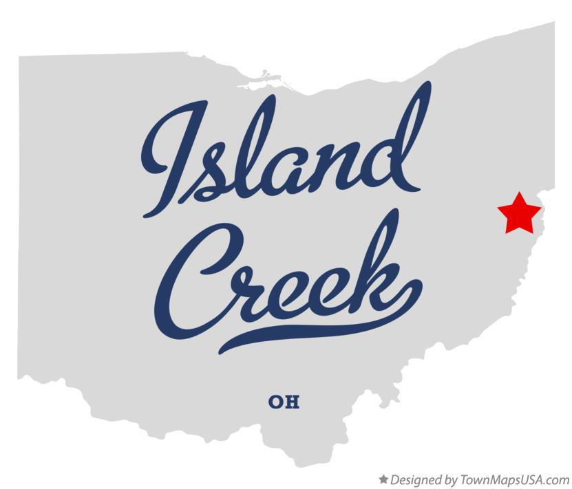 Map of Island Creek Ohio OH
