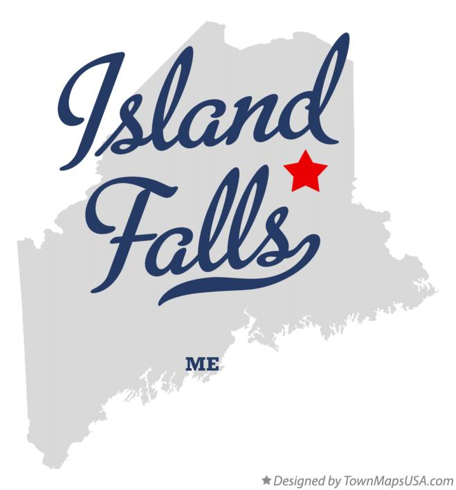Map of Island Falls Maine ME