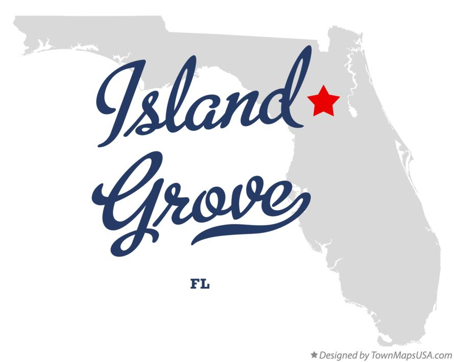 Map of Island Grove Florida FL