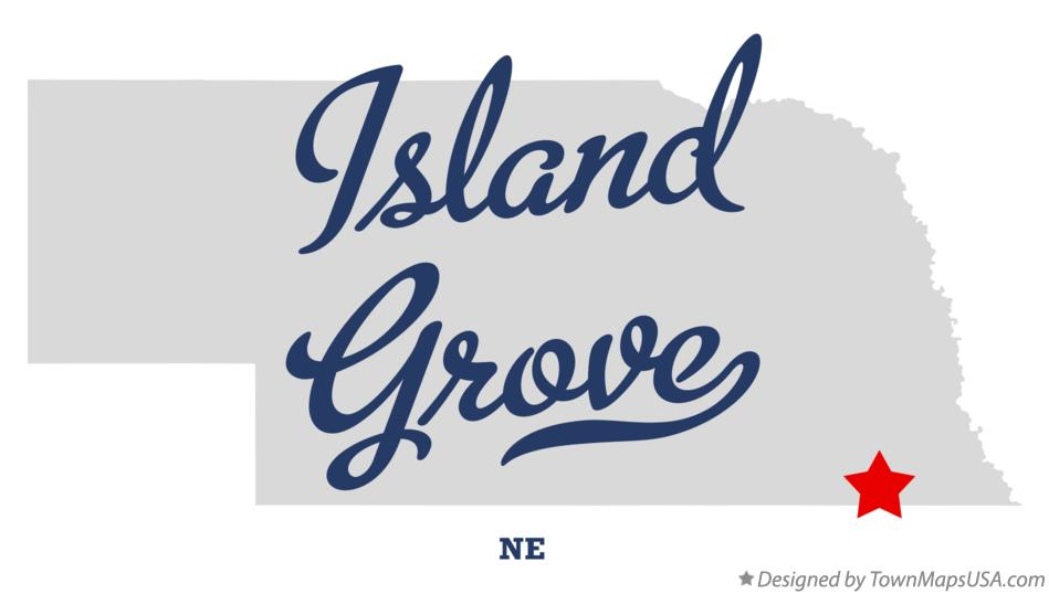 Map of Island Grove Nebraska NE
