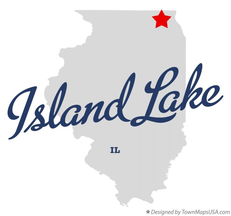 Map of Island Lake Illinois IL