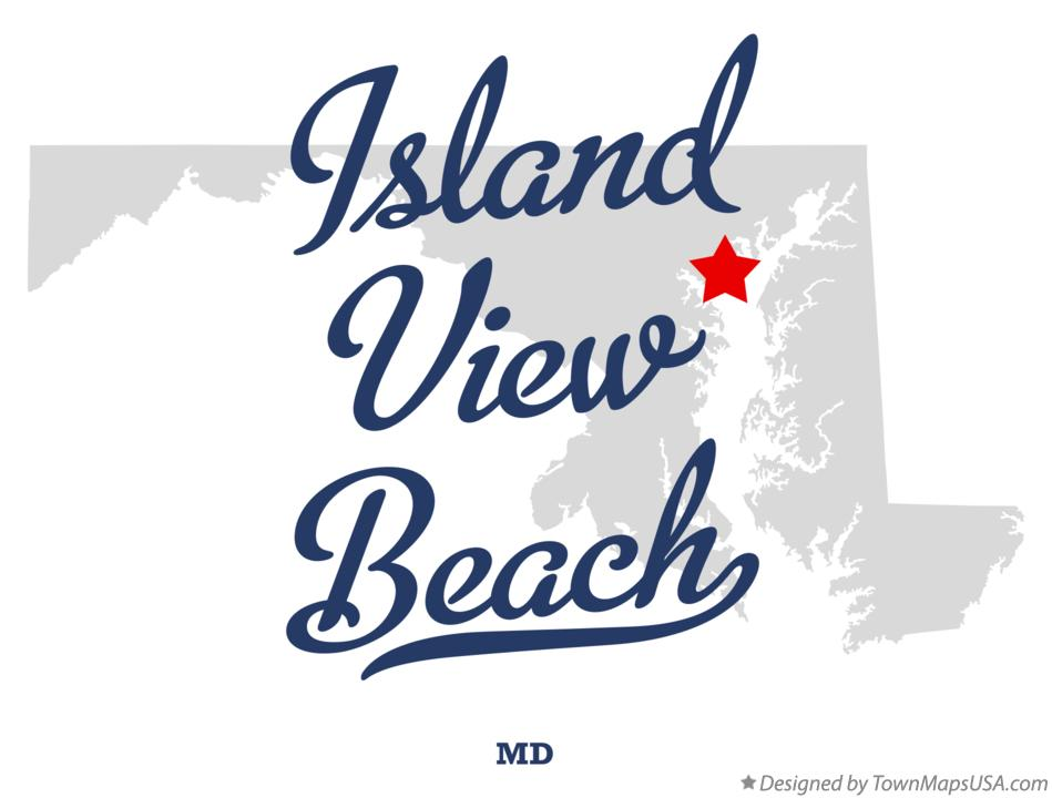 Map of Island View Beach Maryland MD