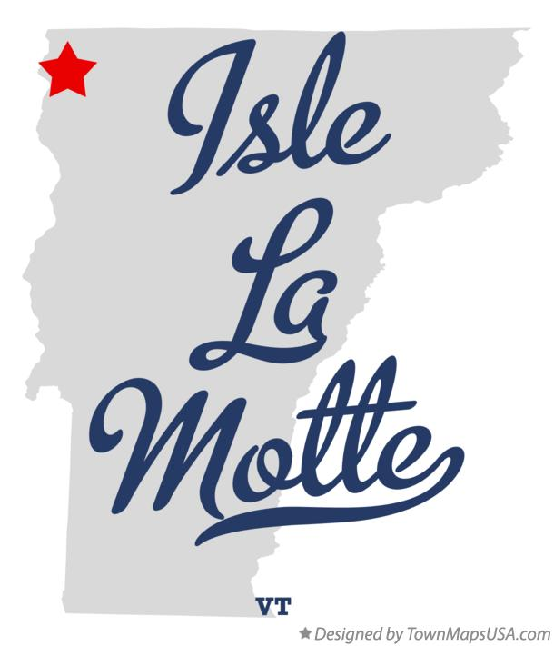 Map of Isle La Motte Vermont VT