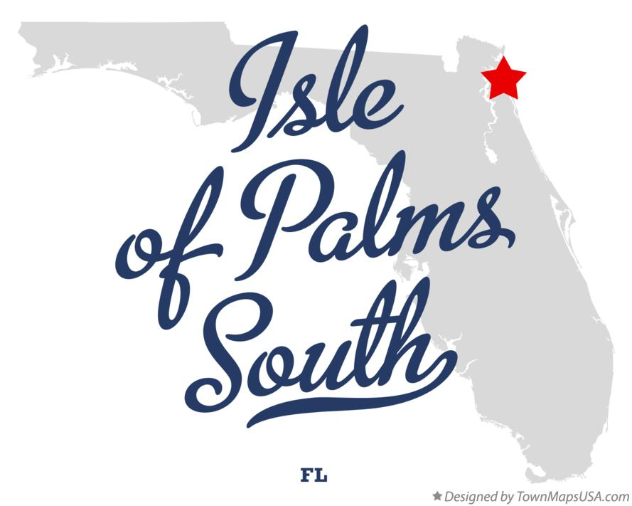 Map of Isle of Palms South Florida FL