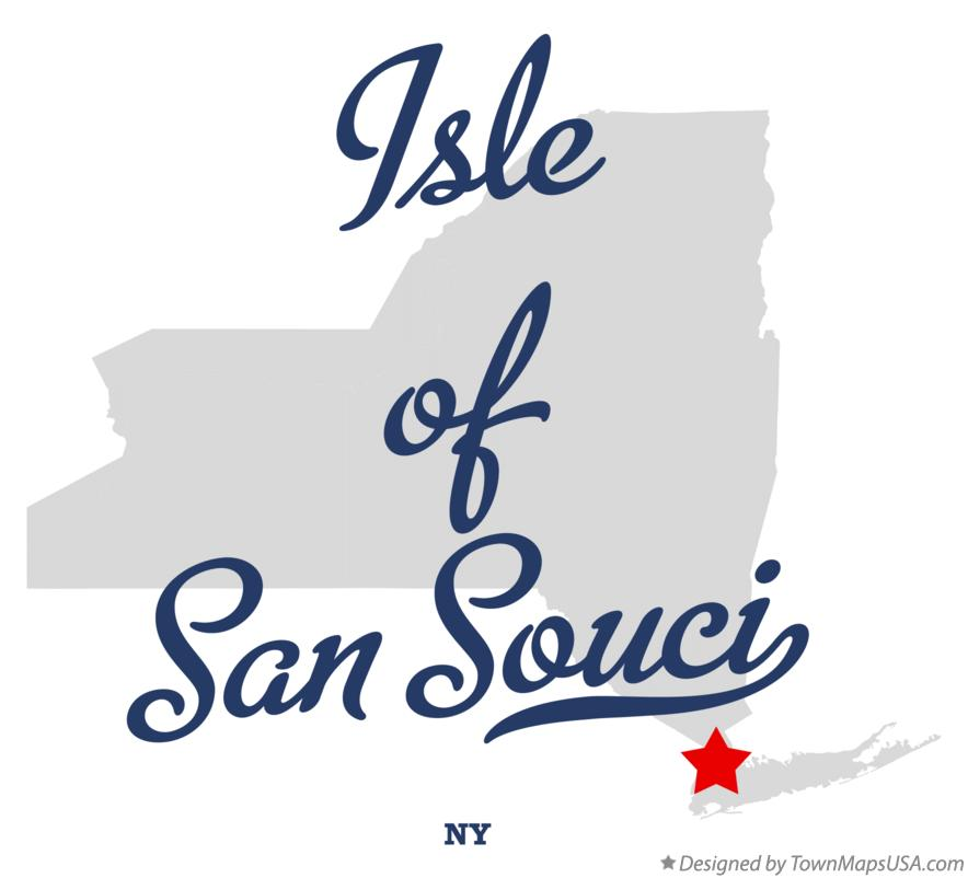 Map of Isle of San Souci New York NY
