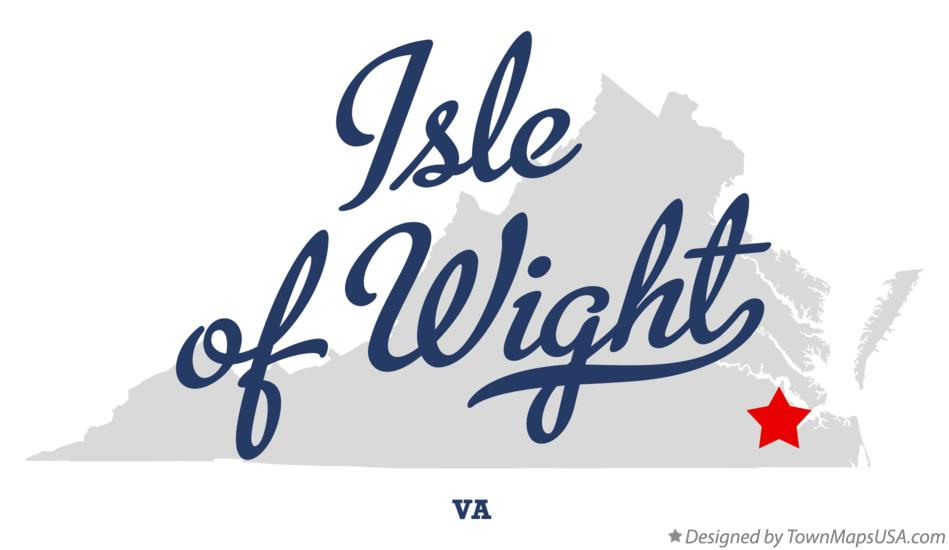 Map of Isle of Wight Virginia VA