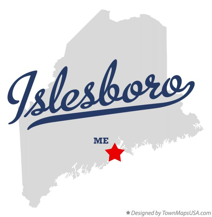 Map of Islesboro Maine ME
