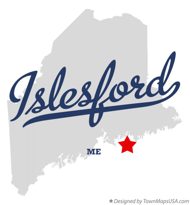 Map of Islesford Maine ME