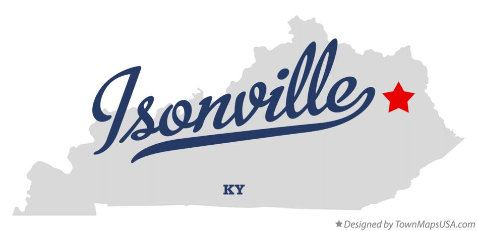 Map of Isonville Kentucky KY