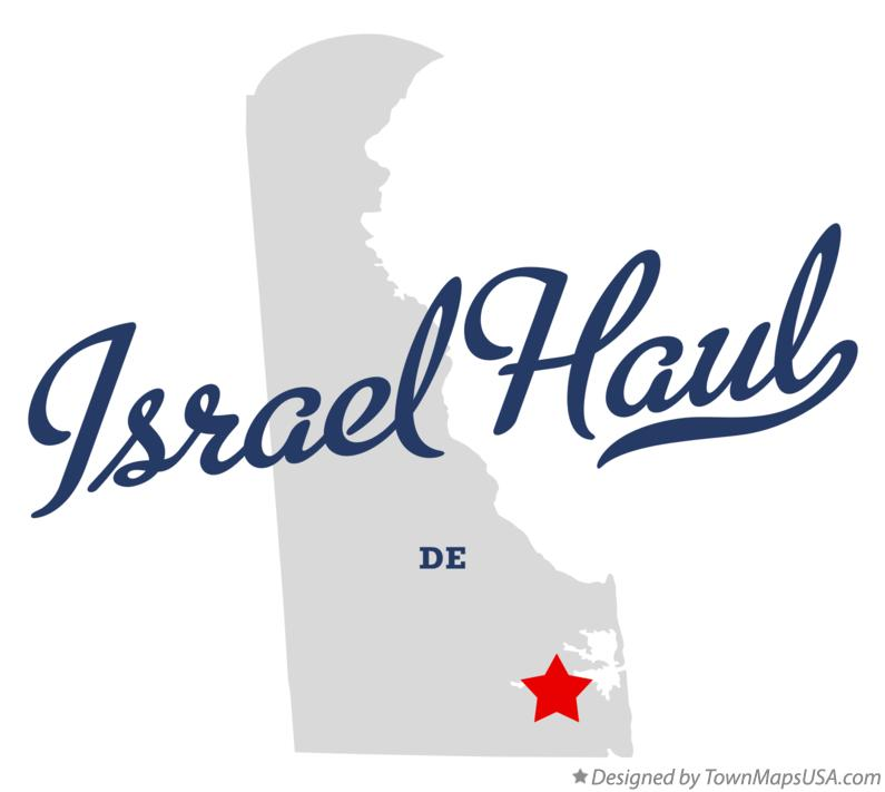 Map of Israel Haul Delaware DE
