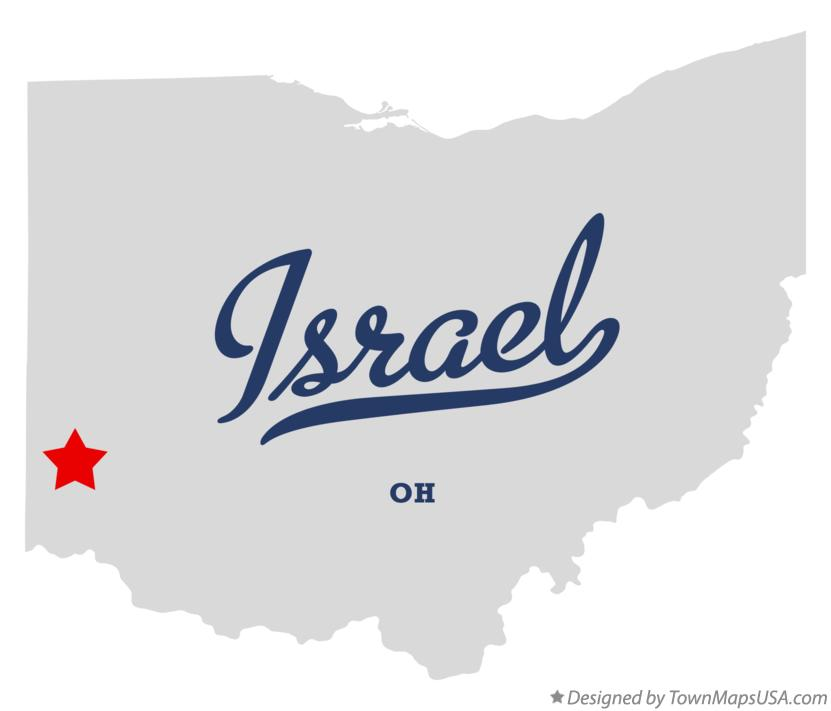 Map of Israel Ohio OH