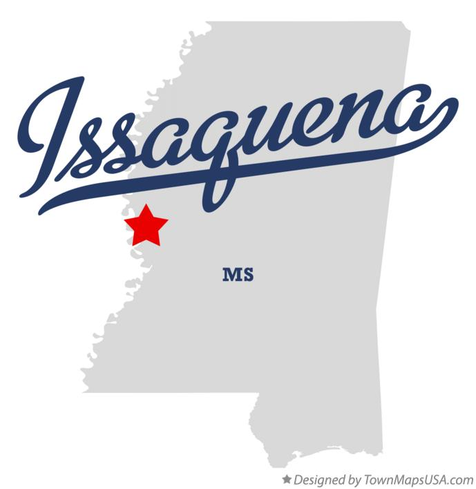 Map of Issaquena Mississippi MS