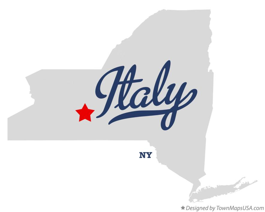 Map of Italy New York NY